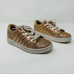 K-Swiss Rose Gold Glitter Sneakers